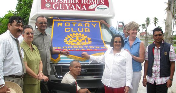 Wheelchair Bus Donated by Caribbean North & Rotary Cheshire Homes