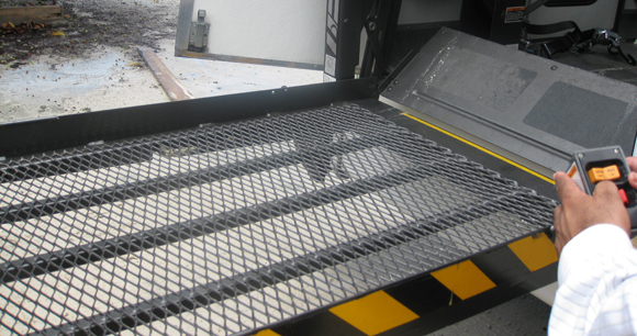 New bus wheelchair ramp