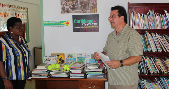 Deputy Mayor Mr. Vito Spatafora at Cheshire Home library